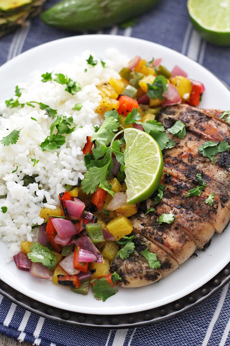 Jamaican Jerk Chicken with Grilled Pineapple Salsa ...