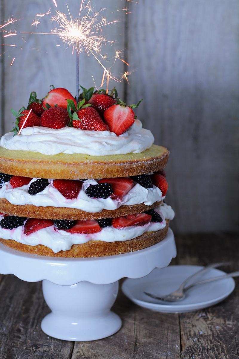 Stawberry and Blackberry Almond Shortcake